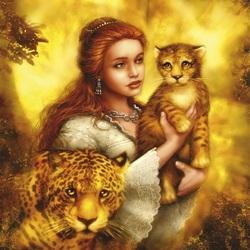 Пазл онлайн: Королева леопардов