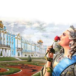 Пазл онлайн: Императрица Елизавета Петровна в Царском селе