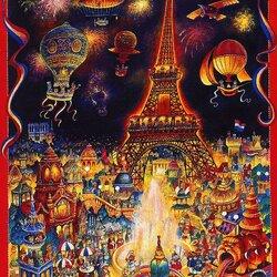 Пазл онлайн: Всемирная выставка в Париже в 1889 году