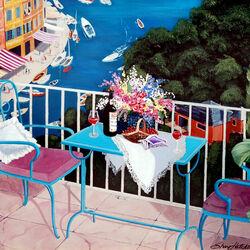 Пазл онлайн: На балконе