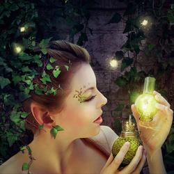 Пазл онлайн: Фея лампы