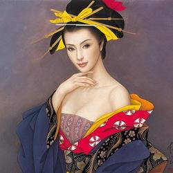 Пазл онлайн: Японка