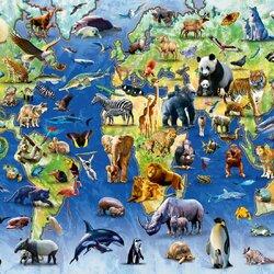 Пазл онлайн: 100 исчезающих видов