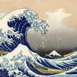 Пазл онлайн: 36 видов Фудзи. Большая волна в Канагаве