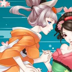 Пазл онлайн: Девочки в кимоно