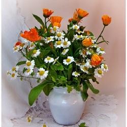Пазл онлайн: Простые цветы