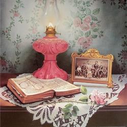 Пазл онлайн: Розовая лампа