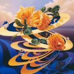 Пазл онлайн: Розы и шары