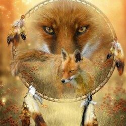 Пазл онлайн: Дух красной лисы