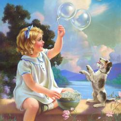 Пазл онлайн: Мыльные пузыри