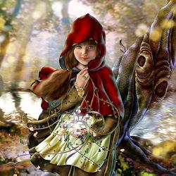 Пазл онлайн: Красная шапочка