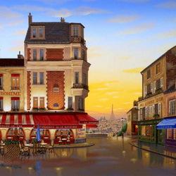 Пазл онлайн: Улица Парижа