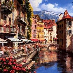 Пазл онлайн: Французский город Анси