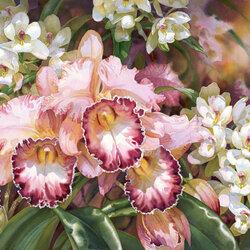 Пазл онлайн: Розовые орхидеи