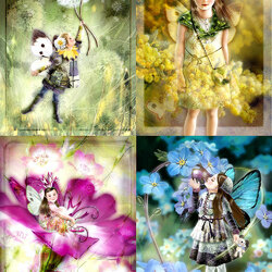 Пазл онлайн: Феи цветов
