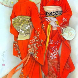 Пазл онлайн: Японки