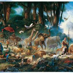 Пазл онлайн: Ной и Всемирный потоп