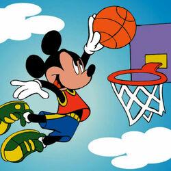 Пазл онлайн: Микки Маус - баскетболист