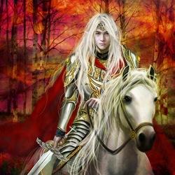 Пазл онлайн: Эльфийский рыцарь