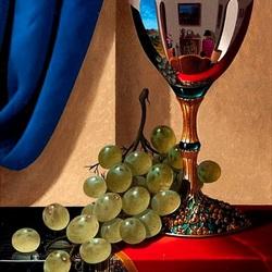 Пазл онлайн: Чаша и виноград
