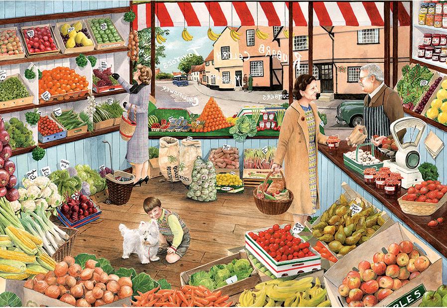 Овощной магазин рисунки