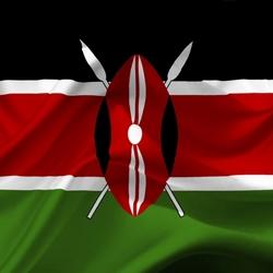 Пазл онлайн: Флаг Кении