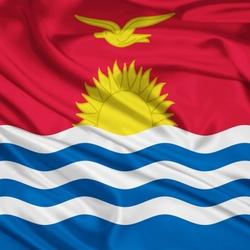 Пазл онлайн: Флаг Кирибати