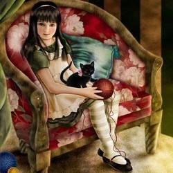 Пазл онлайн: Алиса в Зазеркалье