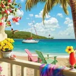 Пазл онлайн:  Тропический рай