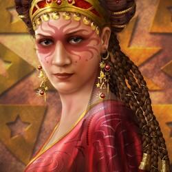 Пазл онлайн: Таро / Королева Жезлов