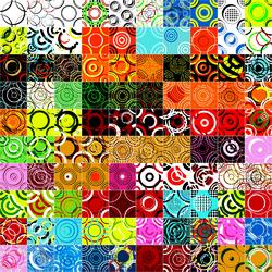 Пазл онлайн: Разноцветные кружочки