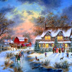 Пазл онлайн: Под Рождество