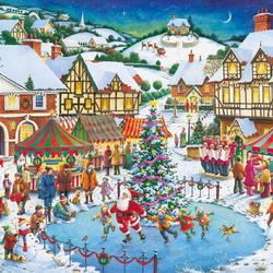 Пазл онлайн: Рождественские праздники