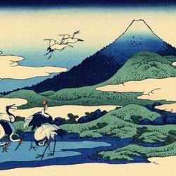 Пазл онлайн: 36 видов Фудзи. Местность Умэдзава в Сосю