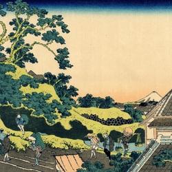 Пазл онлайн: 36 видов Фудзи. Район Сундай в Эдо