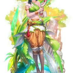 Пазл онлайн: Древесная фея
