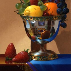 Пазл онлайн: Ваза с фруктами