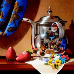 Пазл онлайн: Натюрморт с чайником