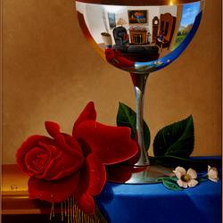 Пазл онлайн: Натюрморт с чашей