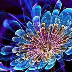 Пазл онлайн: Голубой цветок