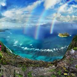 Пазл онлайн: Три радуги