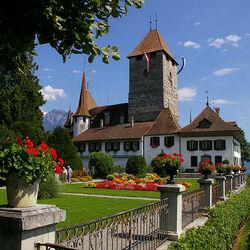 Пазл онлайн: Замок Spiez