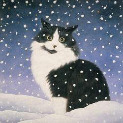 Пазл онлайн: В снегу