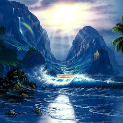 Пазл онлайн: Тропический рассвет