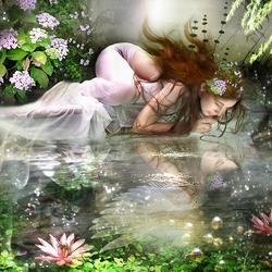 Пазл онлайн: Ночная роза