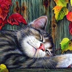 Пазл онлайн: Осенний сон