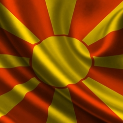 Пазл онлайн: Флаг Македонии