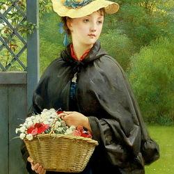 Пазл онлайн: Дочь садовника