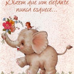 Пазл онлайн: Розовый слонёнок