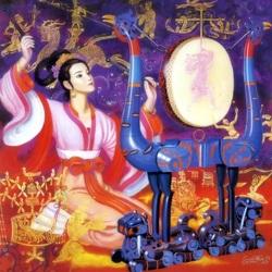 Пазл онлайн: Игра на барабане HuaXia